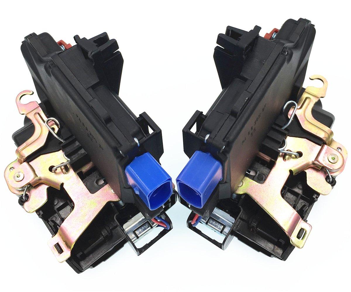 HZTWFC Actuador de cerradura de puerta trasera izquierda derecha de 2 piezas OEM # 3D4839015A 3D4839016A