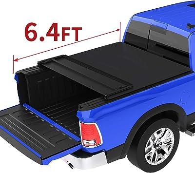 Amazon Com Oedro Quad Fold Tonneau Cover Soft Four Fold Truck Bed Covers Compatible With 2002 2020 Dodge Ram 1500 2003 2018 Dodge Ram 2500 3500 Fleetside 6 4 Bed For Models W O Ram Box Automotive