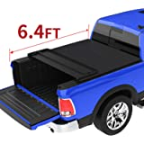 oEdRo Quad Fold Tonneau Cover Soft Four Fold Truck Bed Covers Compatible with 2002-2020 Dodge Ram 1500 ; 2003-2018 Dodge…