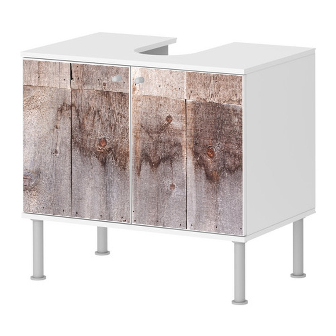 Badunterschrank Badezimmer Holz Balken Holz Funier 2a Designer ...