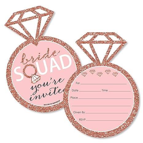 Amazon.com: Bride Squad – Invitaciones de llenado con forma ...