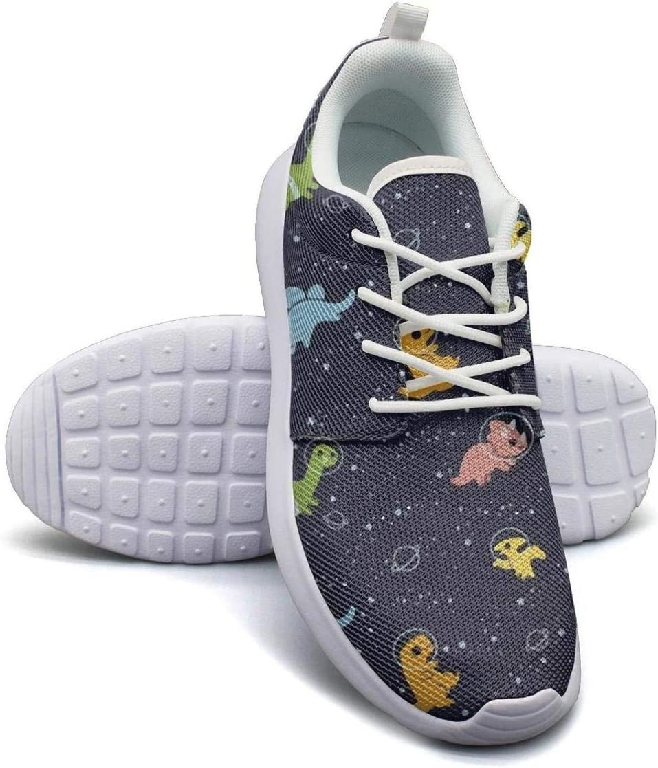 Tyler Liu Mens Black T Rex Dinosaur in Space Running Shoes Fashion Breathable Sneakers Casual Athletic Lightweight