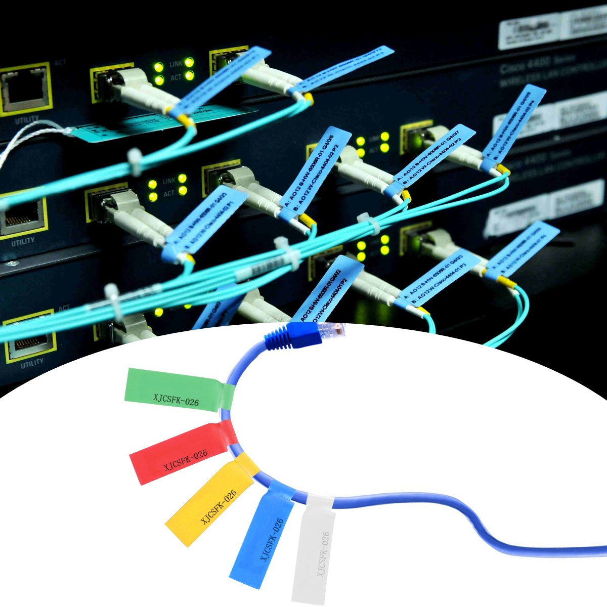 Kabel Etiketten,LANMU selbstklebendes Kabel Label Aufkleber zur ...