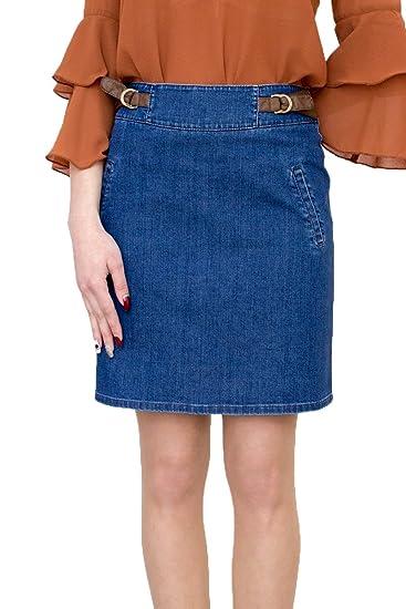 Souvenir-Fashion - Falda - Trapecio - para Mujer Azul Azul 50 ...