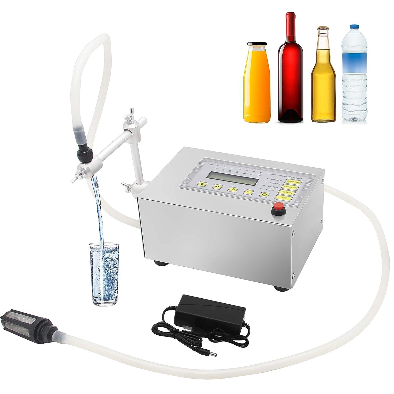 Hanchen Llenadora de Botellas 5-3500ml 3.2L/min Máquina de Llenado de Líquidos Digital Embotelladora para Agua Vino Cerveza Perfume