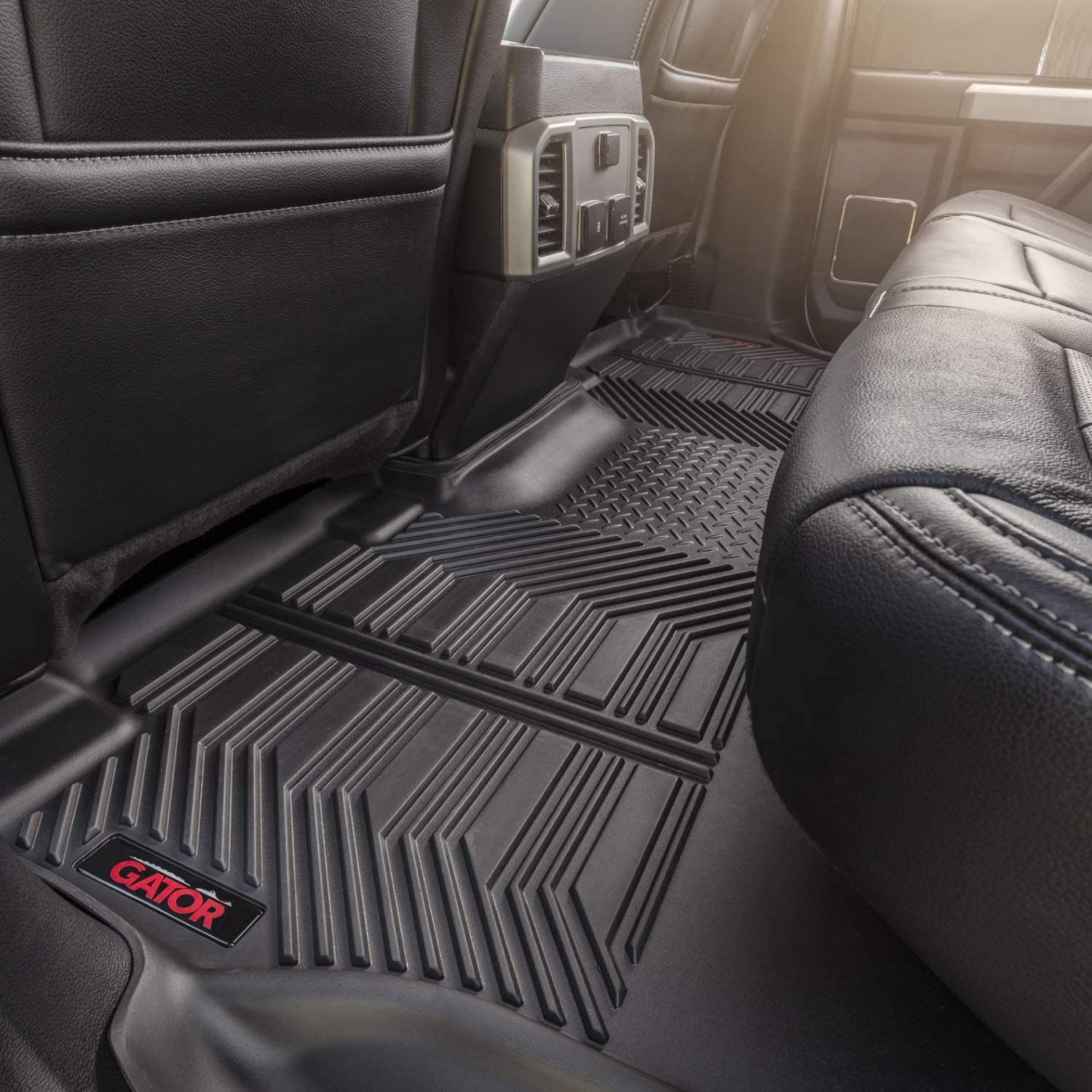 Gator Accessories 79613 Black Fits 2017-20 Ford F-250//F-350 Crew Cab Front Floor Liners