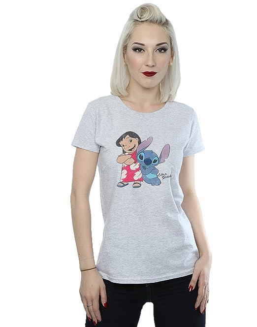 59db4b29 Disney Women's Classic Lilo & Stitch T-Shirt X-Small Heather Grey
