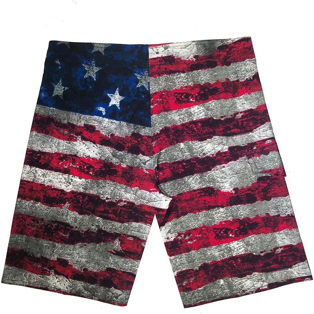 Hattfart Patriotic American USA Flag Lightweight Shorts