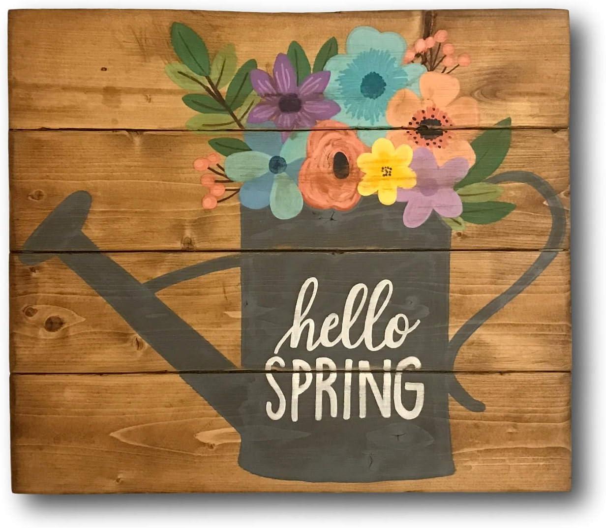 Letrero de la Puerta Delantera de Hello Spring, Señal de ...