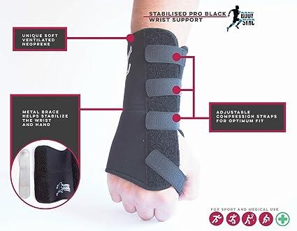 Apoyo de la muñeca para túnel carpiano muñequera ajustable negro con  neopreno para lesiones por esfuerzo b347019a0427