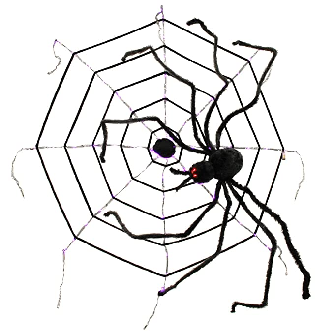 Amazon Com Tcp Global Halloween Haunters 48 Lighted String Spider