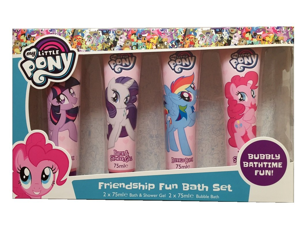 My Little Pony Kids 4 Pack Bath Set - Shower Gel & Bubble Bath Gift Set