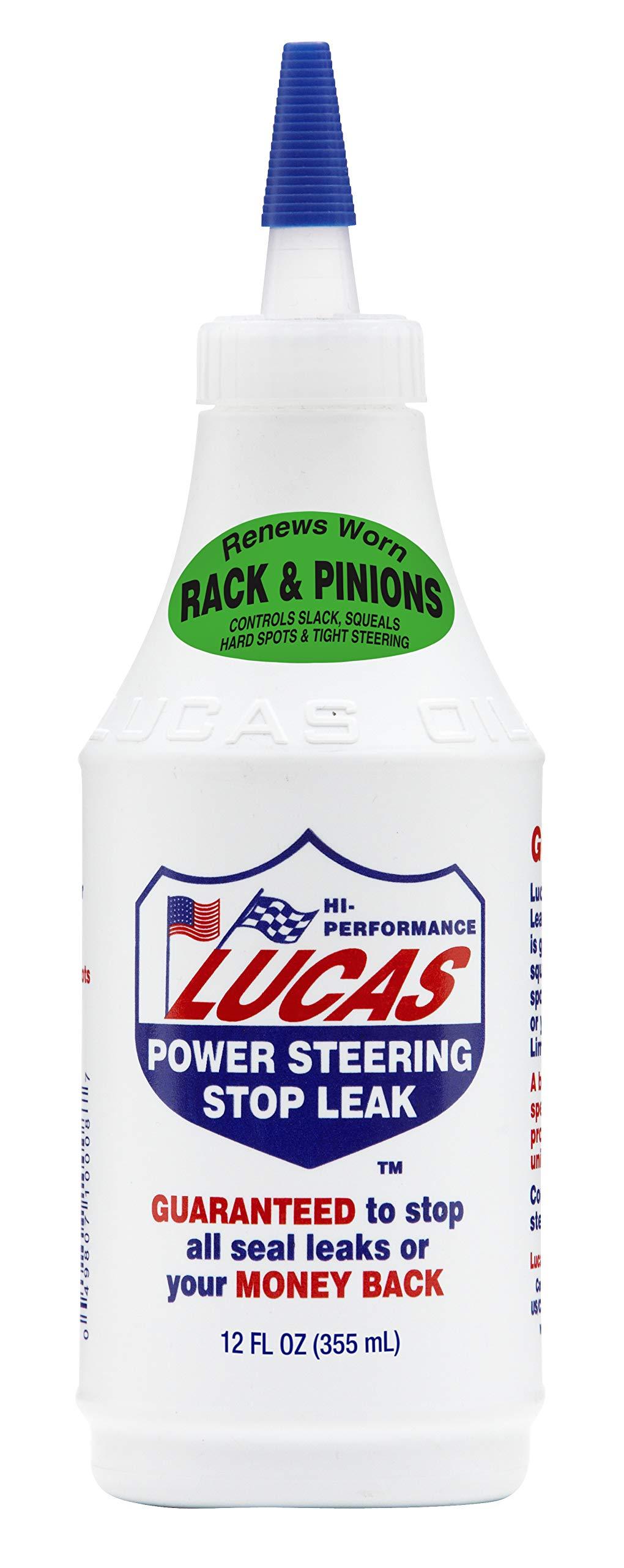 Lucas 10008 Power Steering Stop Leak - 12 oz