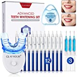 Teeth Whitening Kit with LED Light, GLAMADOR Professional Dental Teeth Whitener with 12pcs Whitening Gel, 3 Soothing Gel, Sen