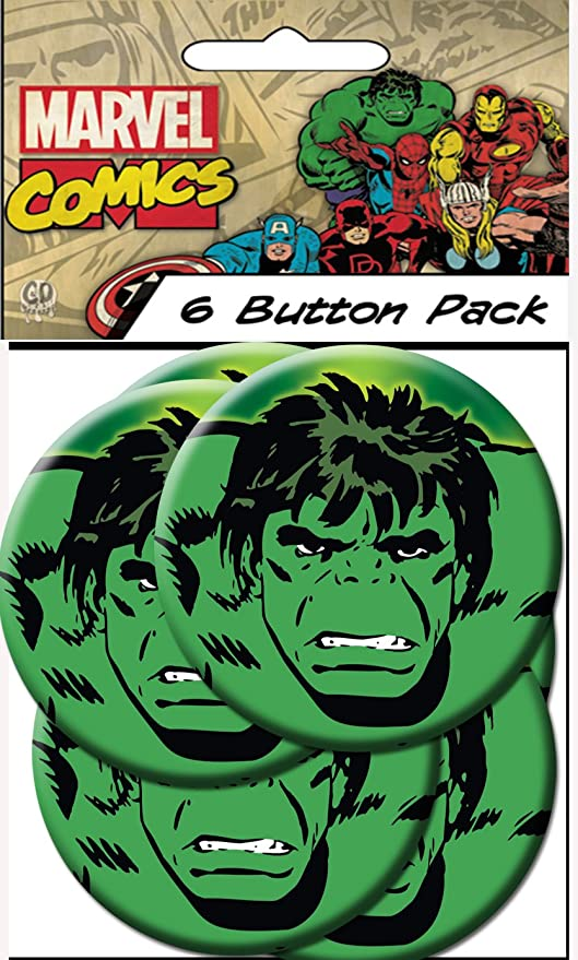 Amazon.com: C & D VISIONARY Marvel Comics Retro Hulk Close ...