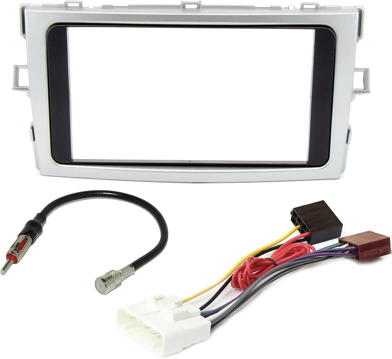 Conjunto de instalación de radio para Toyota Verso AB BJ. 2009 doble DIN de radio + Adaptador Antena de radio