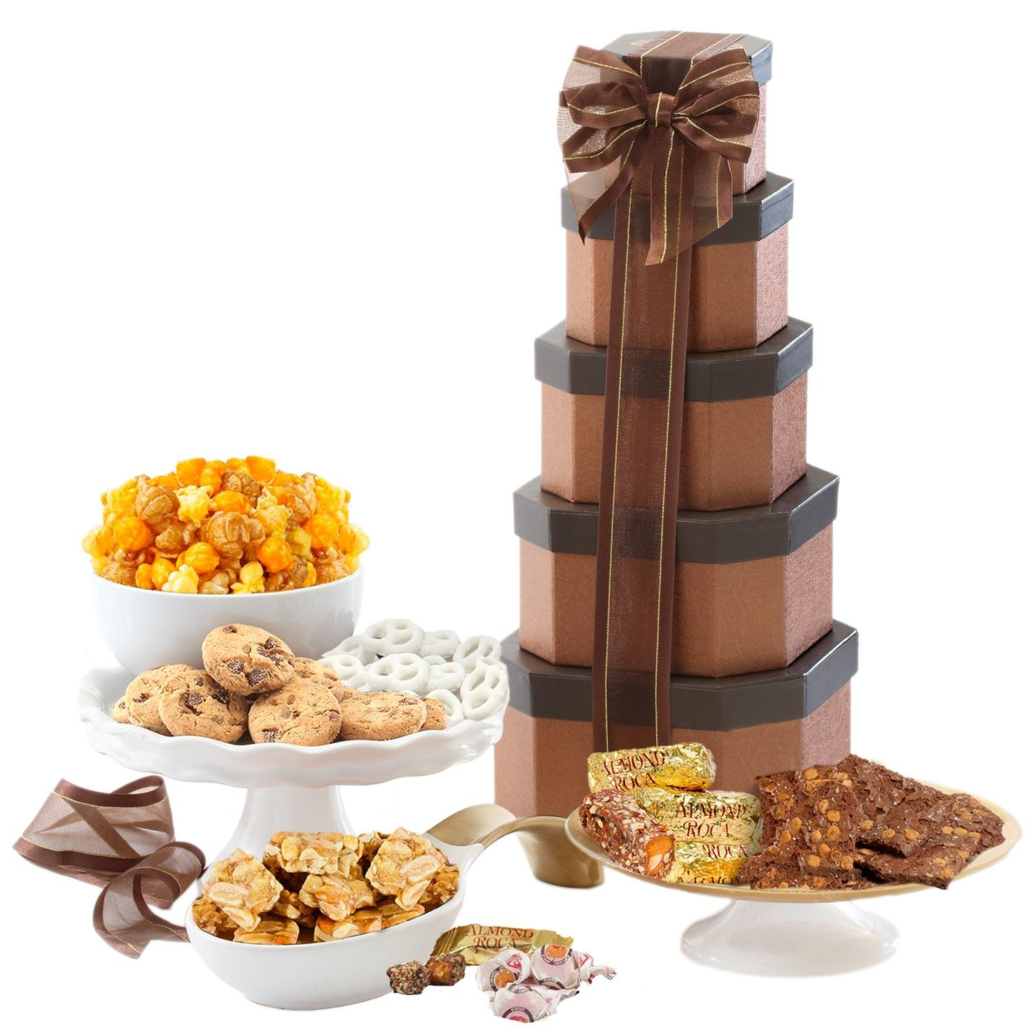 Broadway Basketeers Gift Tower Of Sweets Perfect For Sympathy, Birthday,