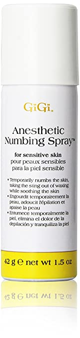 anesthetic numbing spray for waxing