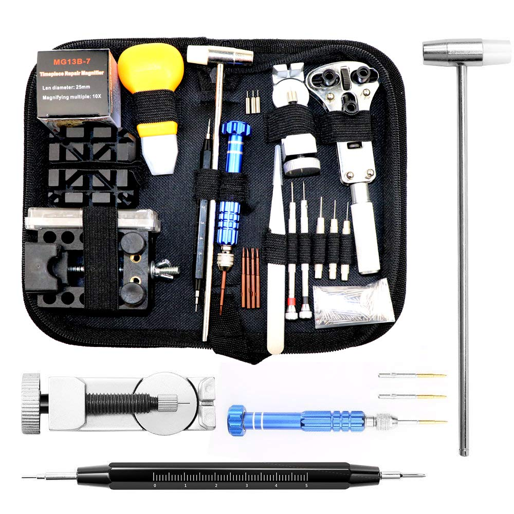 Watch Repair Kit, Lbl Professional Spring Bar Tool Set Watch Band Link Pin Tool Set with Carrying Case