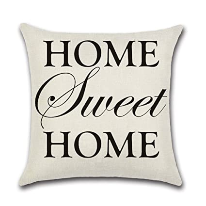 Buy HOME Sweet HOME YANGYULU Quote Words Cotton Linen Home Cool Home Sweet Home Decorative Accessories