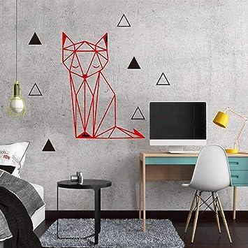 Hermoso zorro geométrico etiqueta de la pared removible ...