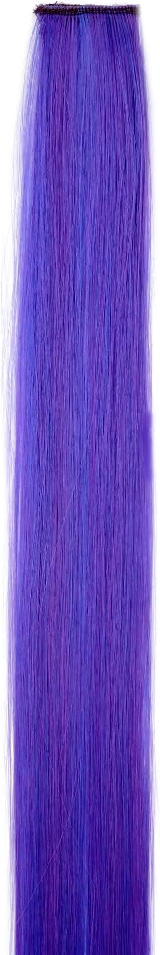 WIG ME UP- Extensión de pelo con 1 clip mechón liso mezcla de violeta y azul 45 cm/ 18 inch YZF-P1S18-T2420TTF2517