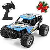 HALOFUN RC Cars Kids, Fitmaker 1:20 Scale Electric RC Car Off Road Vehicle 2.4GHz Radio Remote Control Car 2W High Speed Racing Truck Kids Adults (Blue)