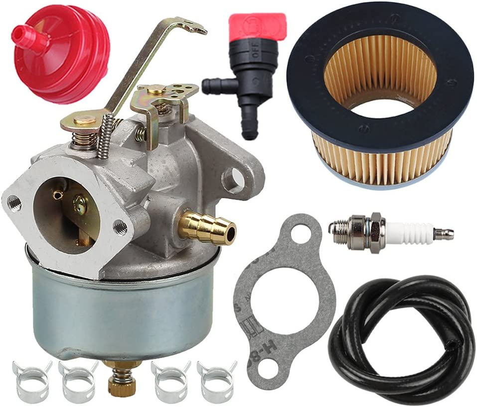 B078NVFCCH 632230 632272 Carburetor with 30727 Air Filter for Tecumseh 5 HP 6 HP 631828 631067 631067A H30 H50 H60 HH60 HH70 Engines 4 Cycle Engine Troy Bilt Tiller Toro Snowblower Sears Tillers 47279 Carb 71Aprs1cfdL
