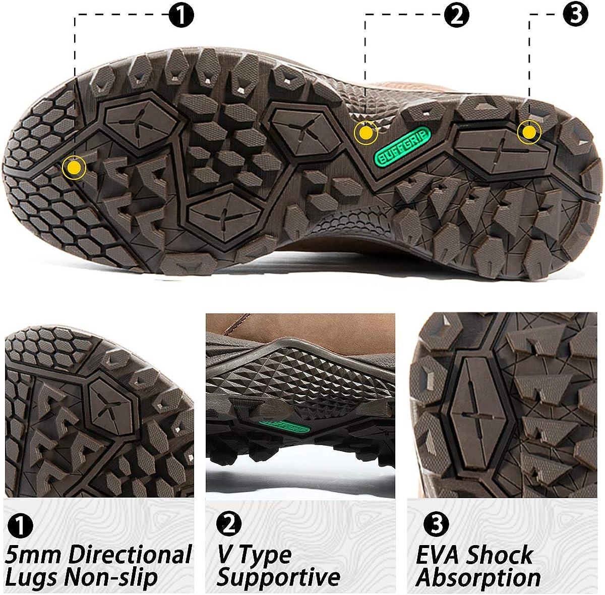 Wantdo Zapatos Seguridad Trekking Senderismo Andar Deportivo Impermeables Trail Calzados Monta/ña Hombre