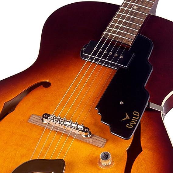 Hermandad T-50 delgado cuerpo hueco eléctrico guitarra con funda (envejecido Burst): Amazon.es: Instrumentos musicales