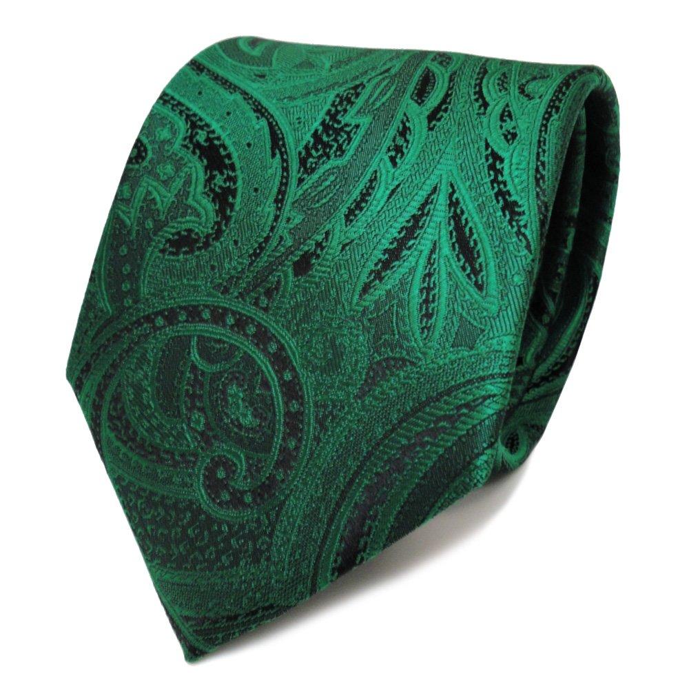 TigerTie diseñador corbata de seda - verde verde esmeralda negro ...