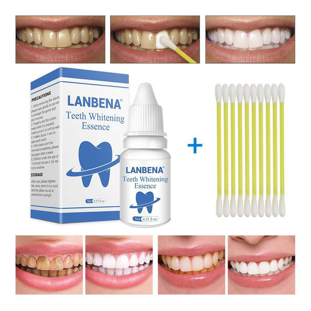 ZeHui Teeth Whitening Peppermint Taste Essence Liquid Oral Hygiene Cleaning Removes Plaque Stains Tooth Care Tool