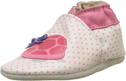 Robeez Turtle Off White Leather Baby Soft Soles Shoes