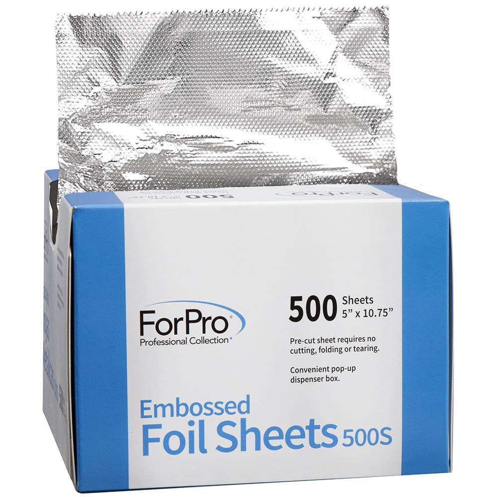 ForPro Embossed Foil Sheets 500S, Pop-Up Dispenser, 5 W x 10.75 L Inches, 6000-Count (Pack of 12, 500 Foil Sheets) by ForPro (Image #2)