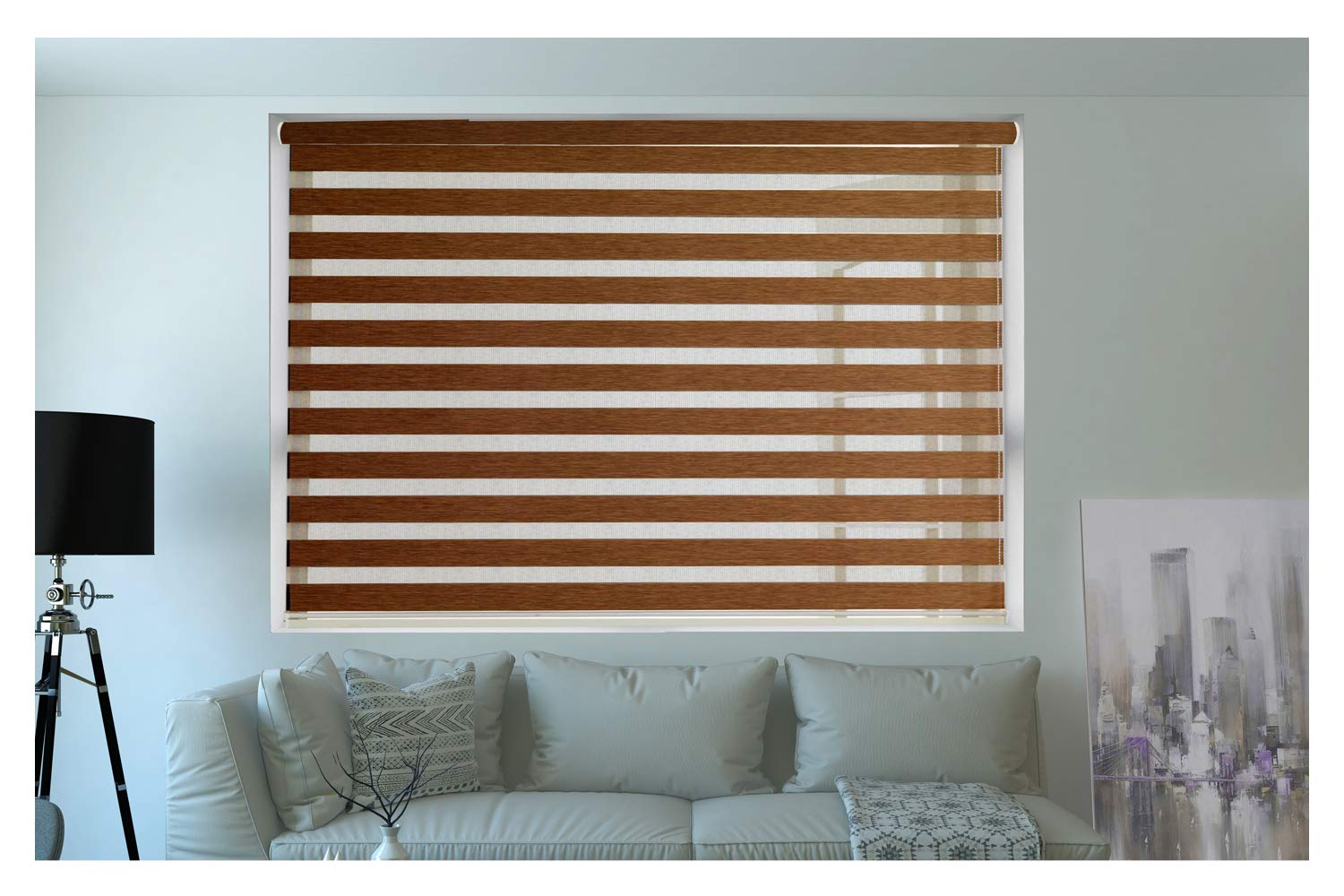 Buy Zebra Blinds Wooden Blinds For Windows Or Outdoor Decor Of The Home Brown Online At Low Prices In India Amazon In