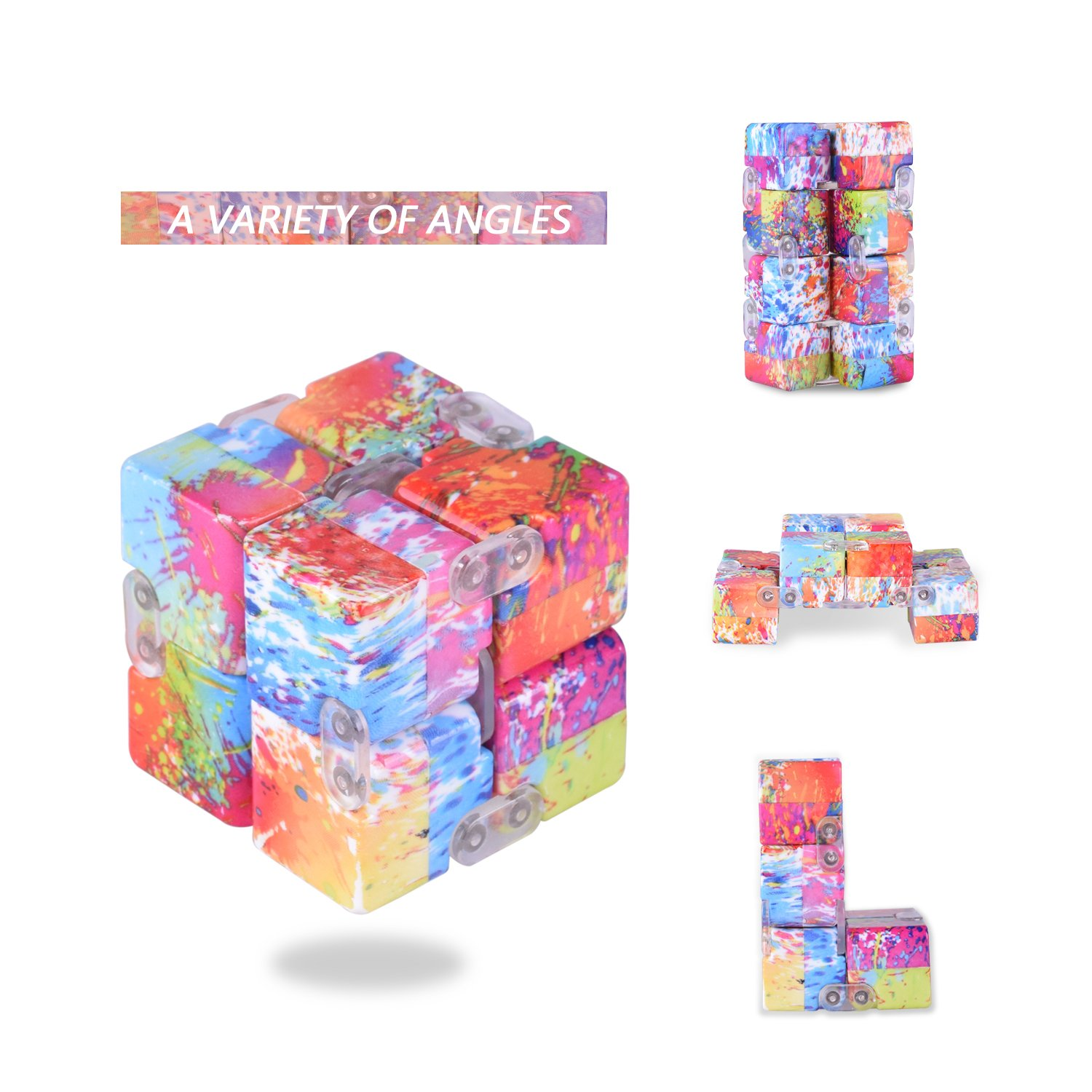 LEEHUR Infinite Cube Toys Fidget Blocks Relieve Stress & Anxiety ADHD Toy