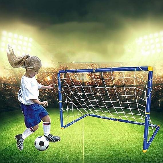 But de football Filet de Football Portable But de Football Objectif de Formation Pliable Pratique But de Football Pliant Pop Up Goal pour les Enfants Enfants pour la Formation DArri/ère-Cour