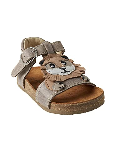 49ecf2f55f9995 Vertbaudet Boys  Leather Sandals Beige Medium Solid With Decor 26 (8 ...