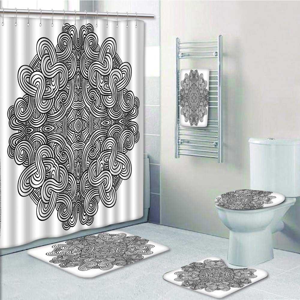 durable modeling Nalahome Designer Bath Polyester 5-Piece Bathroom ...