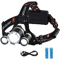 VicTsing Linterna Frontal Recargable LED Alta Potencia 6000