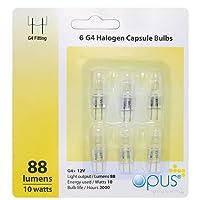 Lot de 6 ampoules Halogènes G4 12v 10w