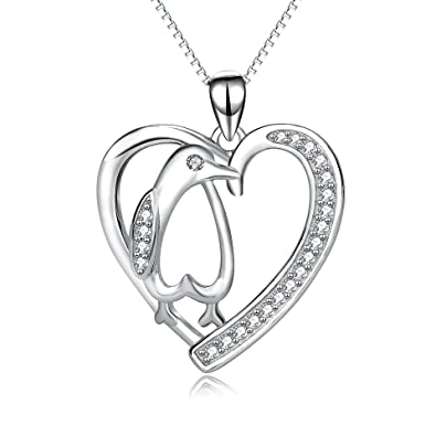 shaped pendant necklace heart mood s claire