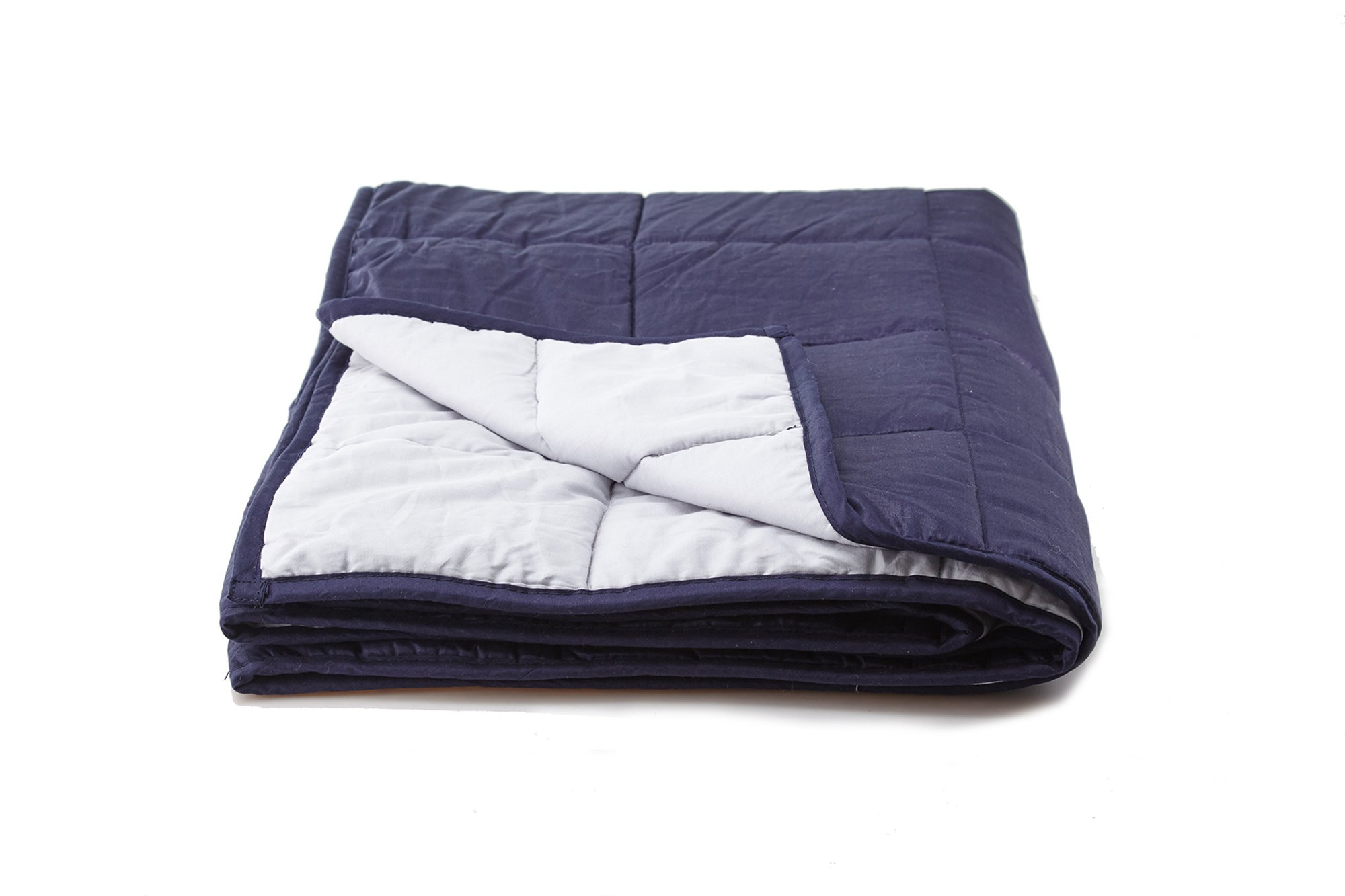 """Weighted Blanket Sensory Solutions for Adults and Kids   Size Large 15 lbs 48"""" X 72"""" Navy Blue   Deep Pressure for Sound Sleep and Natural Stress Relief from Anxiety related to Autism, PTSD, Insomnia by DreamStill (Image #2)"""