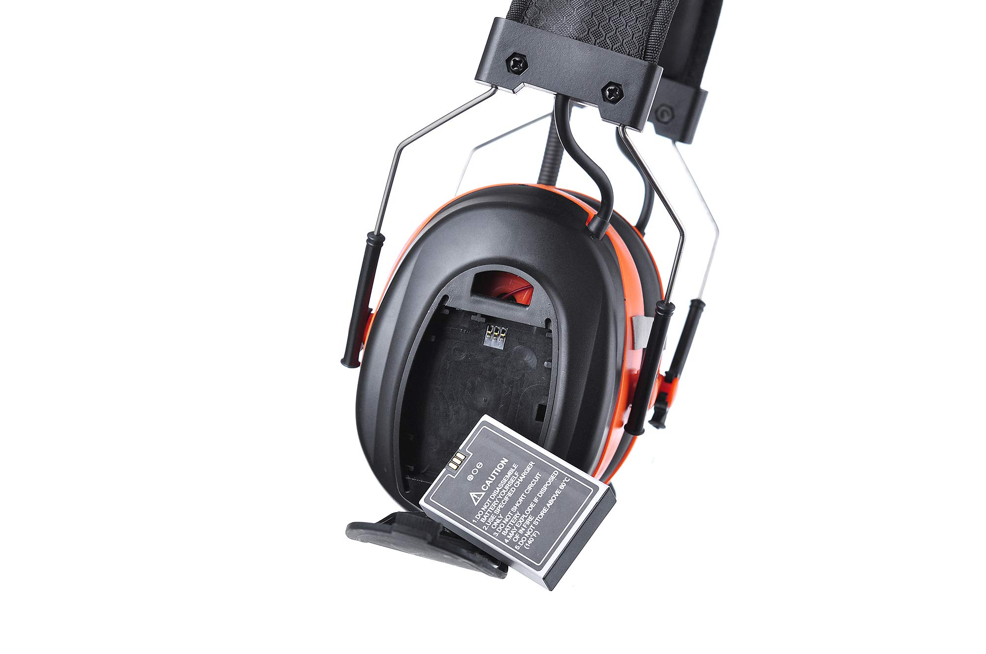 PROTEAR Bluetooth AM FM Radio Noise Reduction Safety Ear Muffs with Rechargeable Lithium Battery - Adjustable NRR 25dB Electronic Ear Hearing Protection lawn mower work headphones,with a Earmuff Clip by PROTEAR (Image #7)