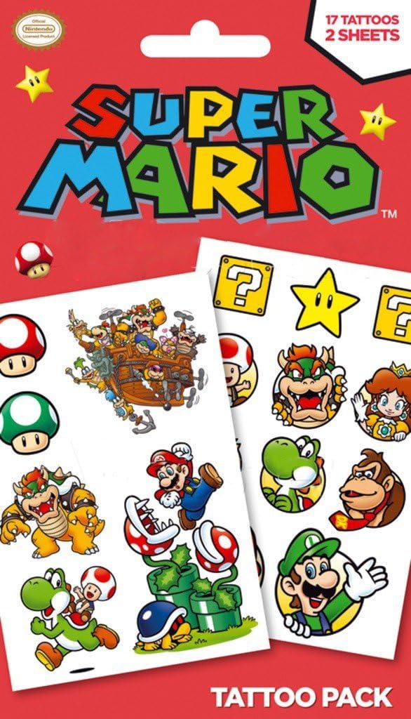 Unbekannt - Tatuaje temporal Mario Bros (TP0096): Amazon.es: Juguetes y juegos