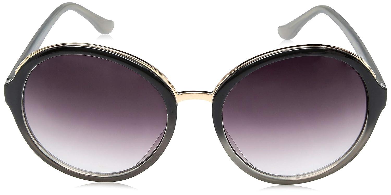 769d2f35fe50 Amazon.com: Steve Madden Women's Sm875179 Round Sunglasses, Black, 59 mm:  Clothing