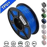 SUNLU 1.75mm Flexible TPU 3D Printing Filament, Dimensional Accuracy +/- 0.02 mm, 1KG Spool, 1.75 mm, Blue