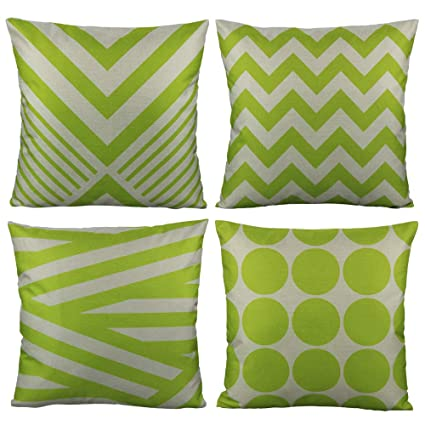 Super All Smiles Outdoor Green Decorative Throw Pillow Covers Cases Cushion Home Decor Accent Square 20 X 20 Set Of 4 For Patio Couch Sofa Lime Green Ibusinesslaw Wood Chair Design Ideas Ibusinesslaworg