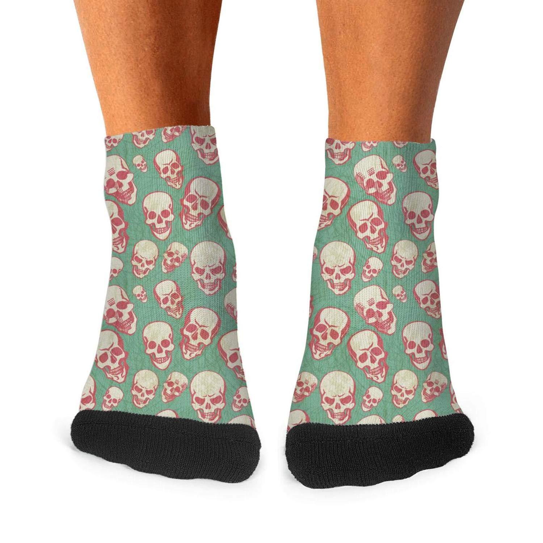 Floowyerion Mens Halloween Golden Skulls Novelty Sports Socks Crazy Funny Crew Tube Socks