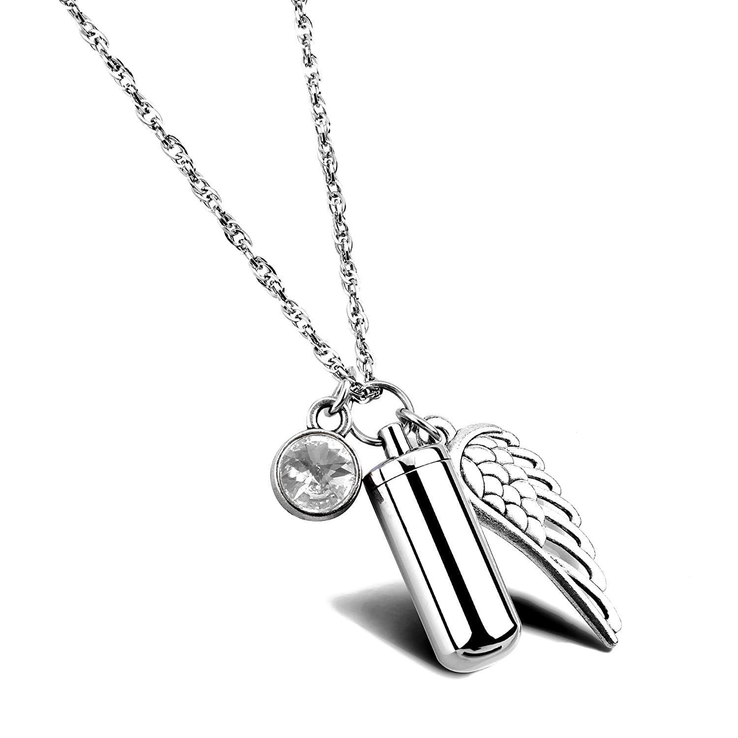 Men Silver Fashion Mens Cross On Cylinder Cremation Urn Necklace Ashes Keepsake Memorial Pendant Lifeleaflegal Com